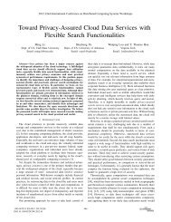 Toward Privacy-Assured Cloud Data Services with Flexible Search ...