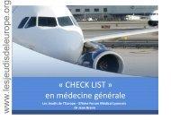 Check list en médecine générale - Les Jeudis de l'Europe