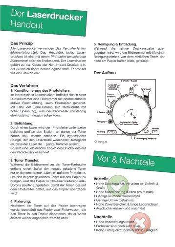 Der Laserdrucker Handout Vor & Nachteile - Mediencommunity.de