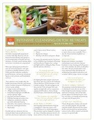 INTENSIVE CLEANSING-DETOX RETREATS - Tao of Wellness