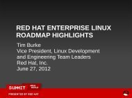red hat enterprise linux roadmap highlights - Red Hat Summit