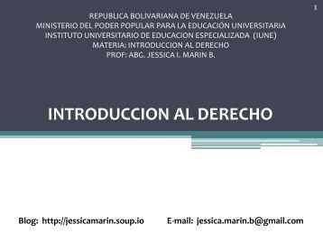 INTRODUCCION AL DERECHO - Soup