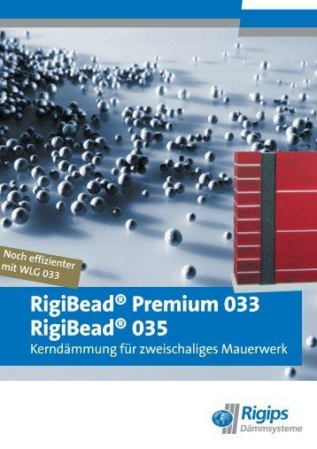 RigiBead® Premium 033 RigiBead® 035 - Rigips