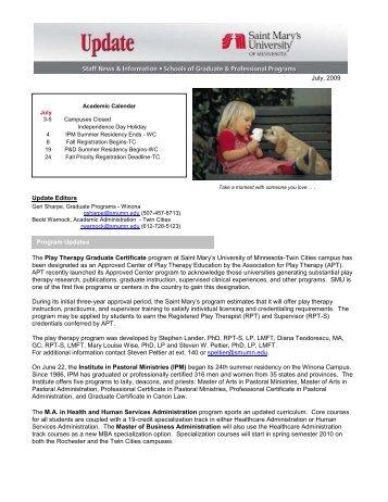Program Updates - SMU Inside Pages - Saint Mary's University of ...