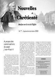 A propos des canonisations du pape Jean-Paul II - Dici
