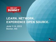 cloud workloads - Red Hat Summit