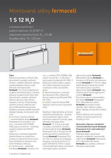 Konstrukční list - 1S12 H 2 O - Fermacell