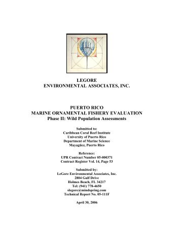 Puerto Rico Marine Ornamental Fishery Evaluation - Caribbean ...