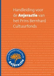 Handleiding voor de Anjeractie van het Prins Bernhard Cultuurfonds