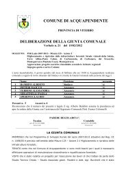 n. 21_15.2.2012_PSR Lazio 2007-2013 - Misura 125 - Comune di ...
