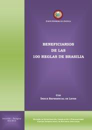 BENEFICIARIOS DE LAS 100 REGLAS DE BRASILIA - Poder Judicial