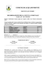 Delibera Giunta Comunale n. 34 del 13/02/2013 - Comune di ...