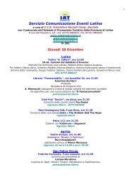 Servizio Comunicazione Eventi Latina - LatinaEventi.it