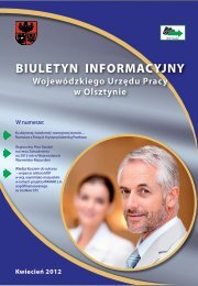 Biuletyn WUP - Wojewódzki Urząd Pracy w Olsztynie