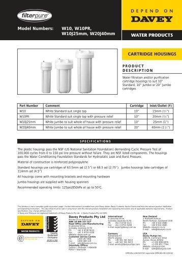 Filterpure Cartridge Housings