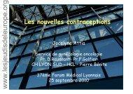 Nouvelles contraceptions - Les Jeudis de l'Europe