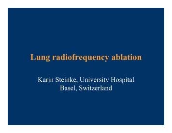 Lung radiofrequency ablation - SIR Foundation