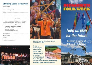 to download an application form (pdf) - Sidmouth Folk week