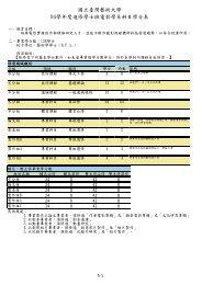 國立臺灣藝術大學94學年度進修學士班電影學系科目學分表
