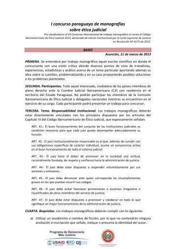 Bases del Concurso [Formato PDF - 663KB] - Poder Judicial