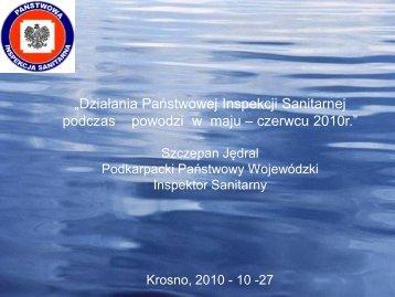 Działania Państwowej Inspekcji Sanitarnej podczas powodzi w maju