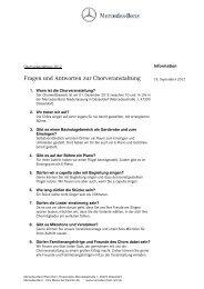 Chorwettbewerb FAQ - Mercedes-Benz Niederlassung Rhein-Ruhr
