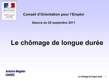 (2) Taux de chômage de longue durée - COE