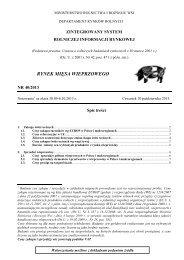 rynek mięsa wieprzowego - Ministerstwo Rolnictwa i Rozwoju Wsi