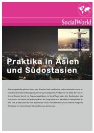 Praktika in Asien und Südostasien - Internationale Beziehungen