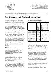 Der Umgang mit Treibladungspulver - Rhein-Kreis Neuss