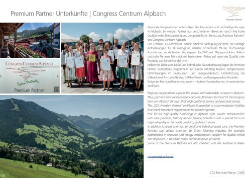 Congress Centrum Alpbach | Premium Partner Unterkünfte