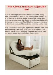 Why Choose An Electric Adjustable Bed