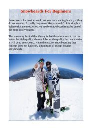 Snowboards For Beginners