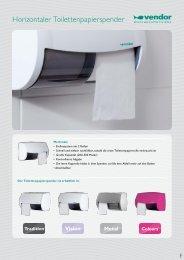 Horizontaler Toilettenpapierspender
