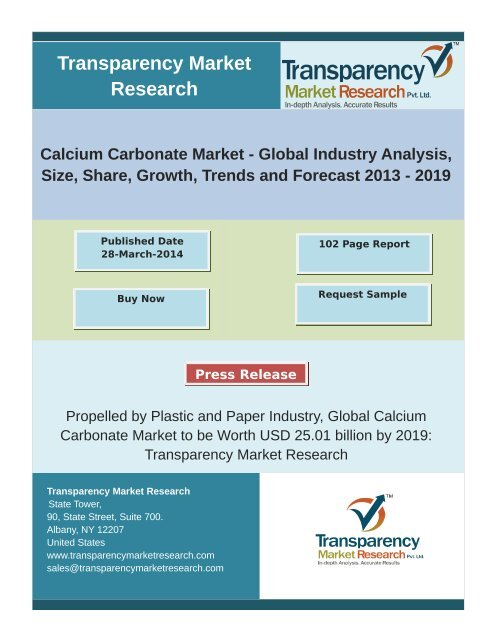 Calcium Carbonate Market (GCC and PCC)