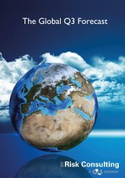 Global Forecast Q3 by G4S Risk Consulting