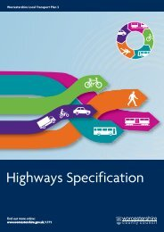 Highways Specification - South Worcestershire Development Plan