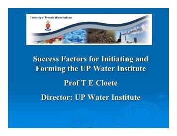 View Prof Cloete's presentation - SERA