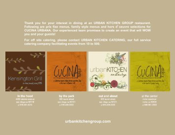 urbankitchengroup.com - Cucina Urbana