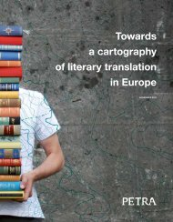 Towards a cartography of literary translation in Europe - Petra