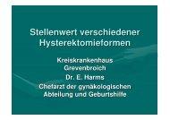 Verteilung der Hysterektomieformen in unserer Klinik