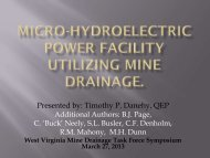 Presented by - West Virginia Mine Drainage Task Force