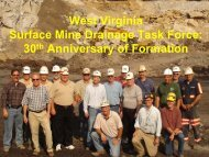 pdf 11mb - West Virginia Mine Drainage Task Force