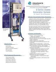E-Series Ozone Generator System E-Series Ozone Generator System
