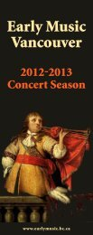 Main Concert Series - Early Music Vancouver