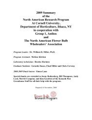 2009 Summary of the North American Research Program At Cornell ...