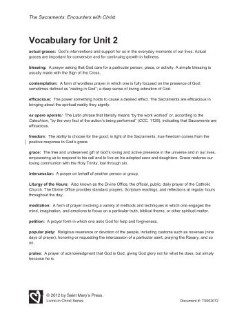 vocabulary handout unit 1