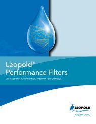 Leopold® Performance Filters - Water Solutions