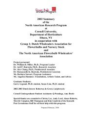 2003 Summary of the North American Research Program at Cornell ...