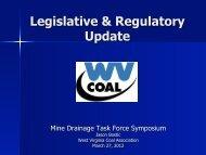 Legislative & Regulatory Update - West Virginia Mine Drainage Task ...